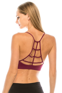 CAGED BACK STRAP BRALETTE
