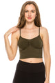 RUCHING CROP BRALETTE