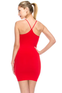 POINT UP SPAGHETTI STRAP RACERBACK DRESS