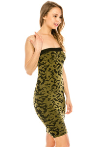 CAMOFLAGE TUBE DRESS