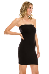 TUBE DRESS WITH SHELF BRA