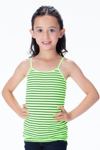 KIDS BLACK STRIPE CAMI