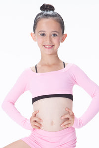 KIDS LONG SLEEVE CROP TOP
