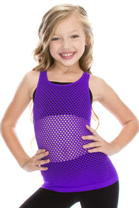 KIDS RACERBACK FISHNET TANK
