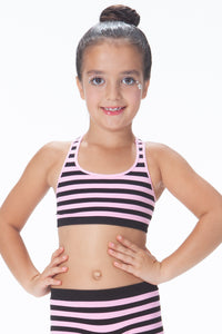 KIDS STRIPE RACERBACK SPORTS TOP