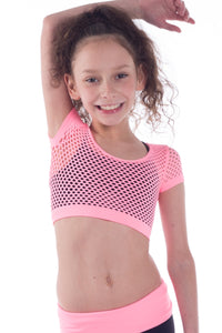 KIDS CROP FISHNET TOP