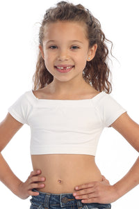 KIDS SHORT SLEEVE CROP TOP