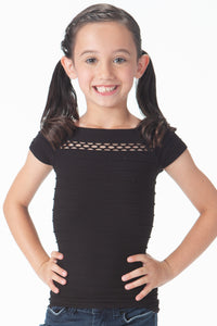 KIDS PEEPING SHORT SLEEVE TOP