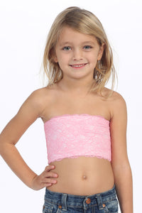 KIDS LACE BANDEAU TUBE TOP