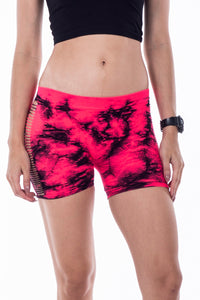 SIDE HOLE MARBLE TIE DYE BOYSHORTS