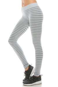 HEATHER STRIPE LEGGINGS