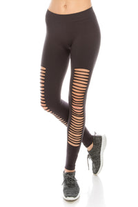 CUTOUT ANKLE LENGTH LEGGINGS