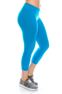 PLUS SIZE CALF LEGGINGS