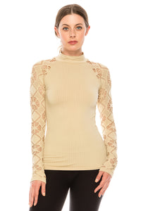 MESH LONG SLEEVE TOP