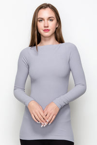 BOAT NECK LONG SLEEVE TOP