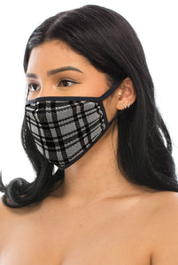3 PACKS OF CHECKERED MASKS
