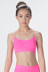 RHINESTONE SPORTS BRA
