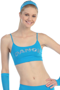SEQUINED 'DANCE' BANDEAU CAMI TOP