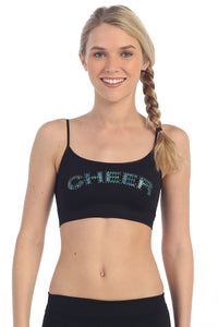"""CHEER"" SEQUIN & STUD BRA CAMI"