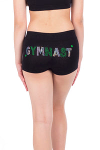 GYMNAST SEQUIN & STUD BOYSHORTS