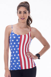 AMERICAN FLAG PRINT CAMISOLE