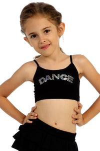 "KIDS SEQUIN ""DANCE"" CAMI TOP"