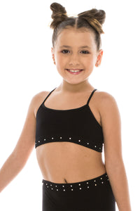 KIDS LOW LEAD RHINESTONE BANDEAU CAMI TOP