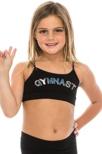 KIDS GYMNAST SEQUIN SPORTS BRA