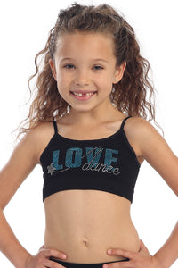 KIDS LOVE DANCE STAR BRA CAMI