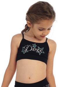 KIDS DANCE STAR STUD BANDEAU CAMI