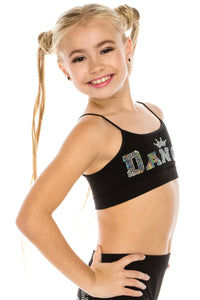 KIDS DANCE CROWN SEQUIN BRA CAMI