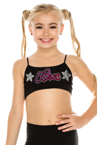 "KIDS ""LOVE & STAR"" SEQUIN BRA CAMI"