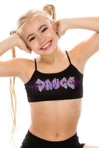 "KIDS ""DANCE"" SEQUIN BRA CAMI TOP"