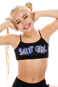 "KIDS ""SWEET GIRL"" SEQUIN BRA CAMI"