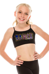 KIDS DANCE FLAG SEQUIN BRA CAMI