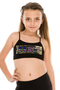 KIDS FLAG DANCE SEQUIN BRA CAMI TOP