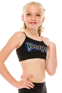 KIDS DANCE HOLOGRAM SEQUIN BRA CAMI