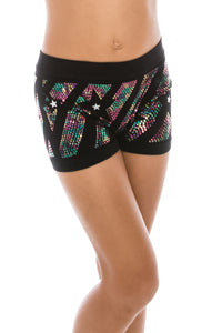 KIDS STARDAZZLE SEQUIN BOYSHORTS