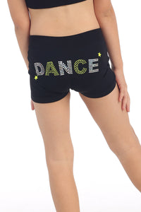 "KIDS ""DANCE"" SEQUIN & STUD BOYSHORTS"