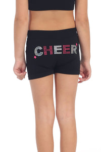"KIDS ""CHEER"" SEQUIN & STUD BOYSHORTS"