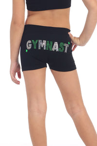 "KIDS ""GYMNAST"" SEQUIN & STUD BOYSHORTS"