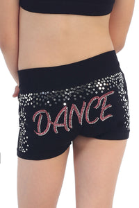KIDS DANCE STUD AND SEQUIN BOYSHORTS