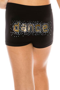 KIDS DANCE GOLD SEQUIN BOYSHORTS