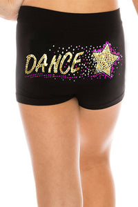 "KIDS ""DANCE & STAR"" SEQUIN BOYSHORTS"