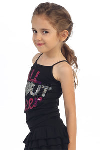 "KIDS ""ALL ABOUT CHEER"" SEQUIN CAMI"