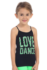"KIDS ""LOVE DANCE"" STUD CAMI"