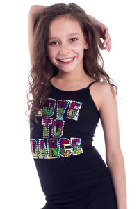 "KIDS ""LOVE TO DANCE"" SEQUIN CAMI"