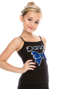 KIDS BOW TIE DANCE SEQUIN CAMI