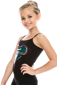 "KIDS ""DANCE"" HEART SEQUIN CAMI"