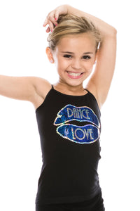 KIDS DANCE LOVE LIP SEQUIN FULL LENGTH CAMI